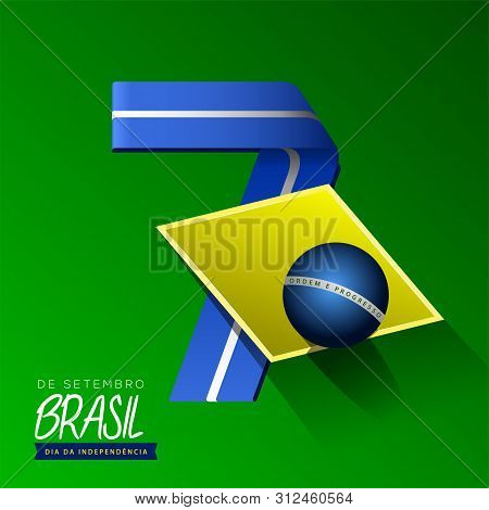 Happy Brazil Independence Day Graphic Design - Vector