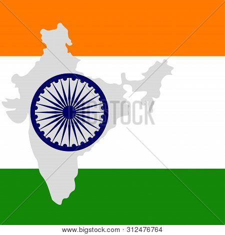 India Flag Map Vector & Photo (Free Trial) | Bigstock on indian print with flag, indian map with key, indian man with flag, india flag,