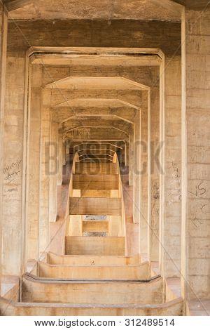 Hampi, India July 8, 2019 : Abandoned And Disused Bridges Near Hampi India