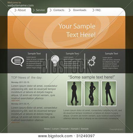 Vector website design,template