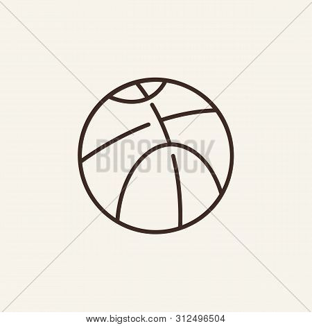 Basketball Line Icon. Ball, Basket, Game. Sport Concept. Vector Illustration Can Be Used For Topics