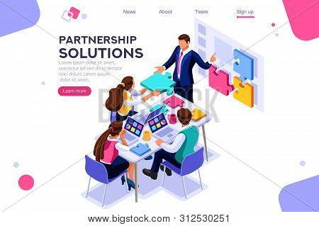 Project Pieces, Communication, Collaboration, Partnership Solution. Together Images, Teamwork Concep