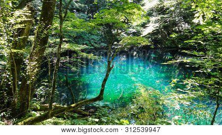 Juniko Twelve Lakes In The Shirakami-sanchi Mountainous Area. A Unesco World Heritage Site In The To
