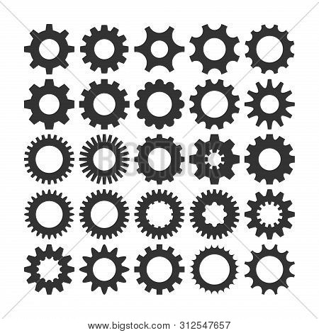 Gear Icon Vector Set, Machine Gear Icon Collection, Gear Icon Eps10, Gear Icon Vector Flat, Gear Ico
