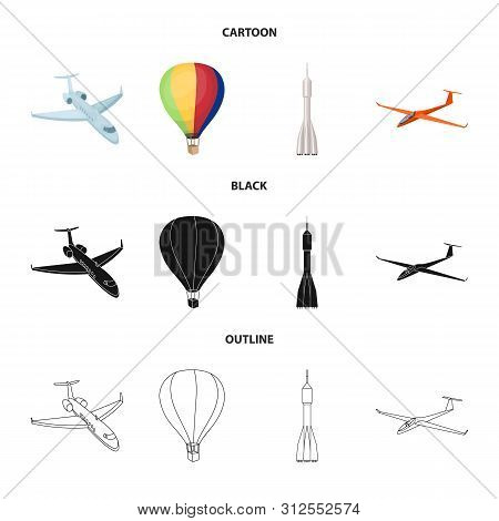 Vector Illustration Of Transport And Object Logo. Collection Of Transport And Gliding Vector Icon Fo