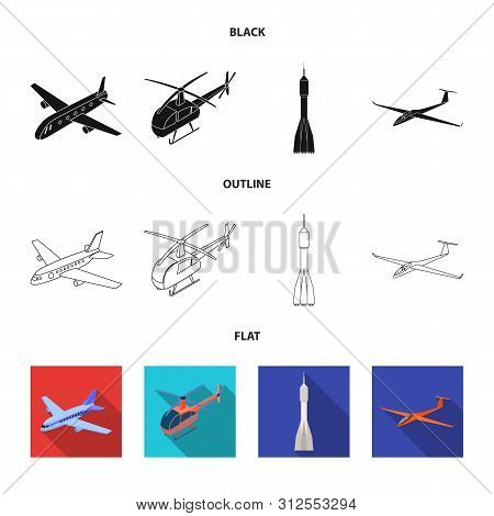 Vector Design Of Transport And Object Icon. Set Of Transport And Gliding Stock Vector Illustration.
