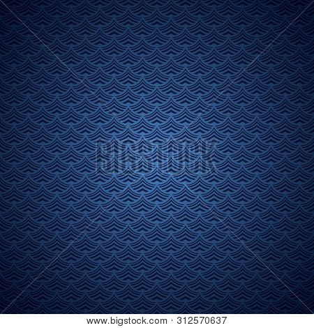 Aqua Abstract Background Blue Ultramarine Stylized Waves Of Sea Or Ocean Water, With Gradient Colori