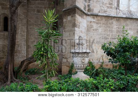 Peace In The Courtyard Of The Old Temple