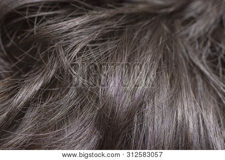 Closeup To Dark And Soft Hair Background