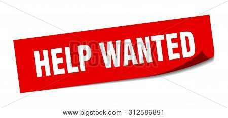 Help Wanted Sticker. Help Wanted Square Isolated Sign. Help Wanted