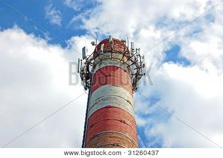 Transceiver on chimney