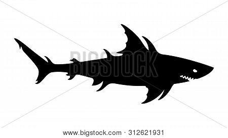 Megalodon, Giant Shark, Sea Monster, Aquatic Mutant, Danger Creature Of The Undersea World.