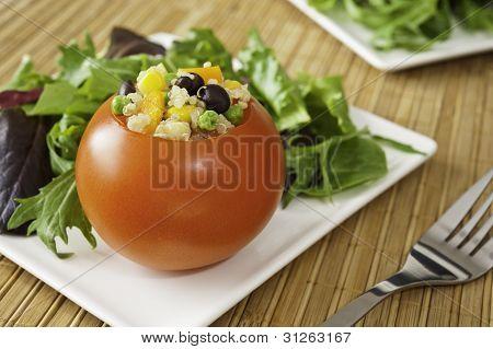 Stuffed Tomato With Salad