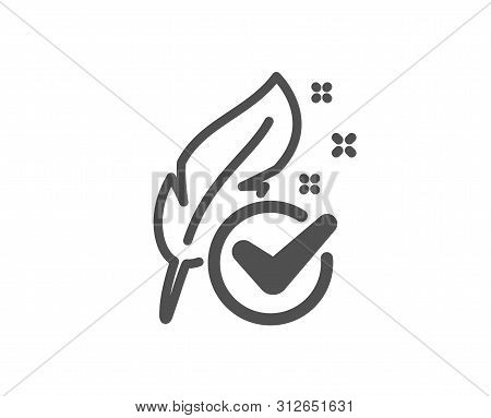 Feather Sign. Hypoallergenic Tested Icon. No Synthetic Symbol. Classic Flat Style. Simple Hypoallerg