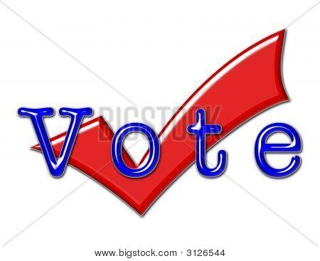 Vote Illustration And Checkmark