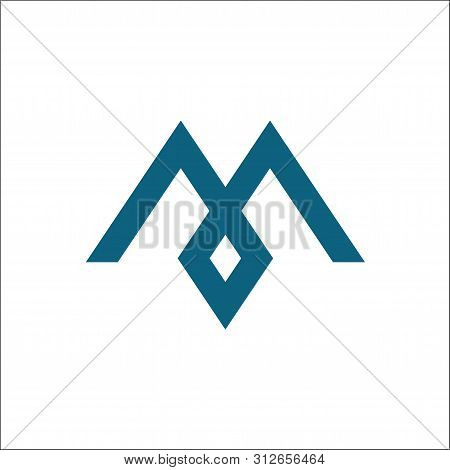 Letter M Vector Icons Logo Template,initials M,m Mountain Logo Vector