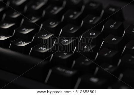 Close-up of a black keyboard