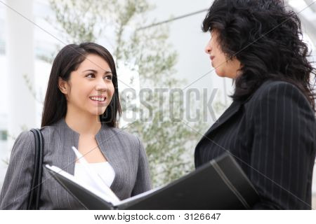 Pretty Women At Office Building