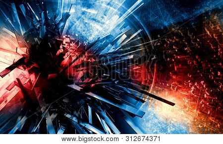 3D rendering of abstract digital technology background