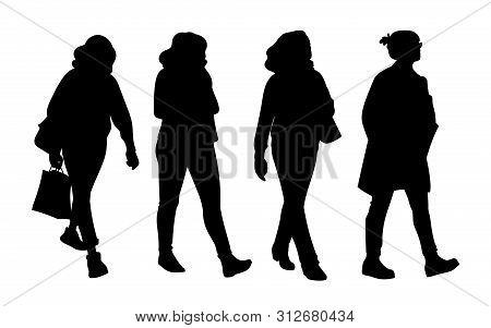set women taking walk vector photo free trial bigstock set women taking walk vector photo