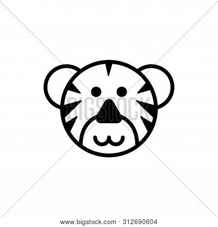 Tiger Icon Isolated On White Background. Tiger Icon Simple Sign. Tiger Icon Trendy And Modern Symbol