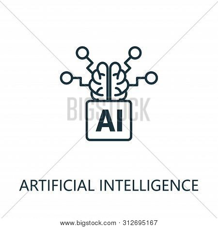 Artificial Intelligence Thin Line Icon. Creative Simple Design From Artificial Intelligence Icons Co