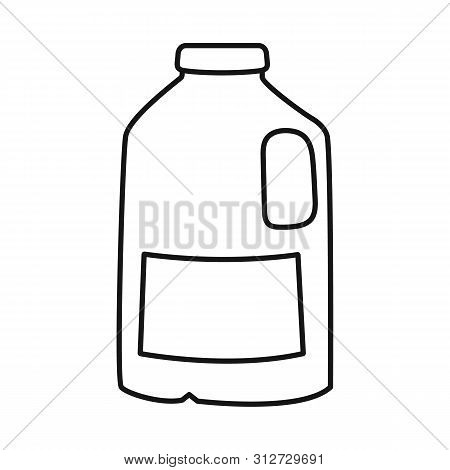 Vector Design Of Gallon And Milk Logo. Set Of Gallon And Can Vector Icon For Stock.