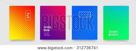 Background Patterns, Abstract Modern Color Gradient And Circle Line Design Elements. Vector Flat Geo