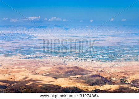 View From Mount Nebo In Jordan