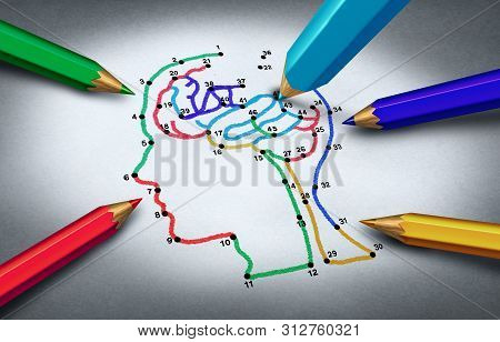 Autism Awareness Idea And Concept Of Autistic Development Disorder As A Symbol Of A Communication An