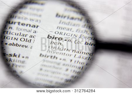 Word Or Phrase Biro In A Dictionary