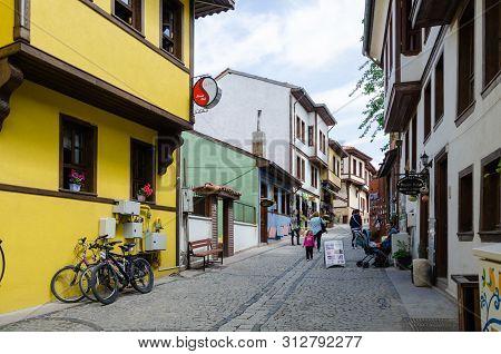 Eskisehir, Turkey - May 19, 2018: Historical Odunpazari District View In Eskisehir City Of Turkey. I
