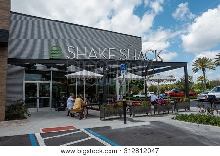 Orlando, Fl/united States - 04/18/2019:shake Shack Is An American Fast Casual Restaurant Chain Based
