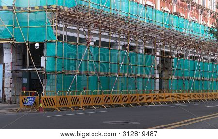 Guangzhou, Guangdong/ China - June 3, 2019: Under Construction Works At Guangzhou , China. They Just