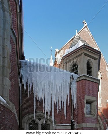 Icicles On A Church