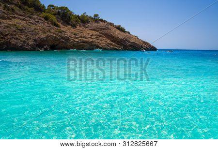 Ibiza Cala Moli beach in Sant Josep of Balearic Islands
