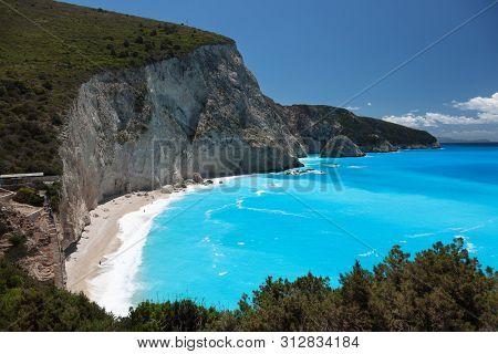 Porto Katsiki beach in Lefkada island, Greece. Ionian islands