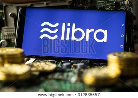 Phone Shows Libra Logo On The Screen.