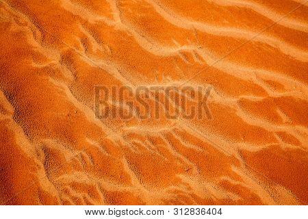 Sand pattern close up of Namib desert