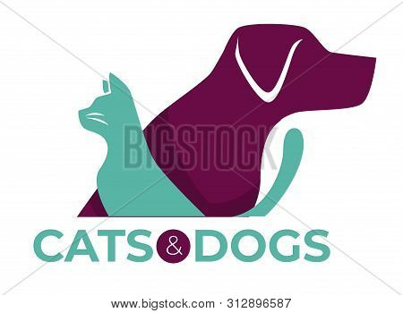 Cats And Dogs Vet Clinic Pets Shop Or Shelter Isolated Icon