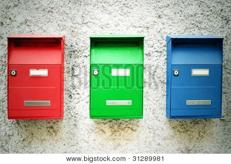 Three Mailboxes
