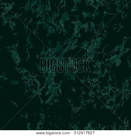 Green Marble Texture Background. Seamless Pattern. Vector Illustration. Beautiful, Noble And Deep Gr