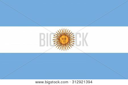Flag Of Argentina Argentina Vector Flag. National Symbol Of Argentina