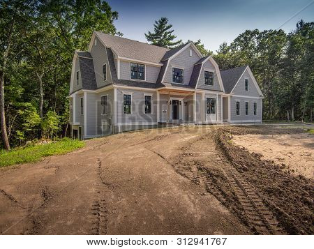 New Just Finished House Construction In The Suburbs