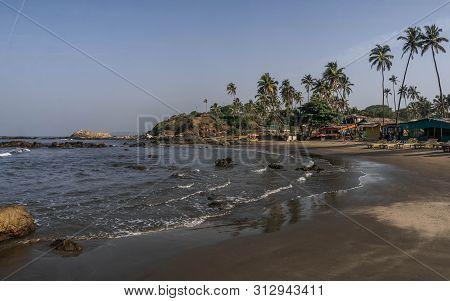 Vagator Beach In North Goa, Relax, Inditya
