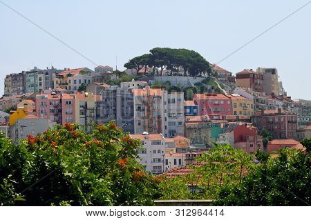 Old Lisbon City And Buildings In Summer Time
