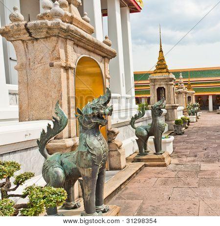 Lion Statue In Wat Phra Kaew