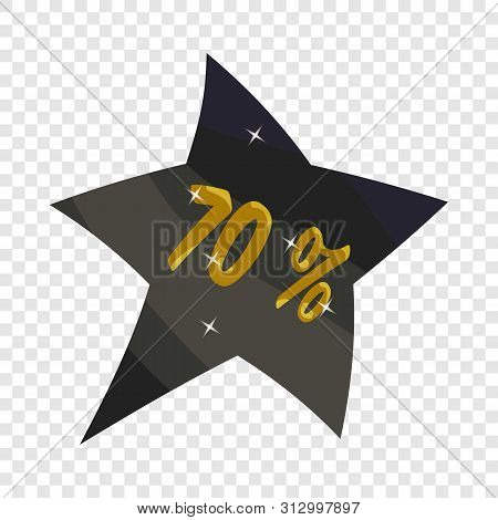 Tag Star Seventy Percent Discount Icon. Cartoon Illustration Of Tag Star Seventy Percent Discount Ve