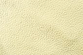 Natural qualitative yellow leather texture. Close up. poster