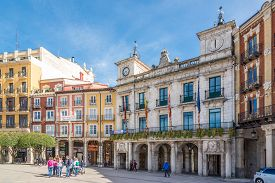 Burgos,spain - May 12,2019 - View At The Town Hall Of Burgos. Burgos Is A City In Northern Spain And